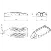 Светодиодный светильник уличный FLA 13A-70-850-WL